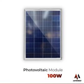 Movenergy 100 Watt 12 Volt Polycrystalline Solar High Efficiency Solar Panel, For RV Trailer Camper Marine Off Grid Made in North America
